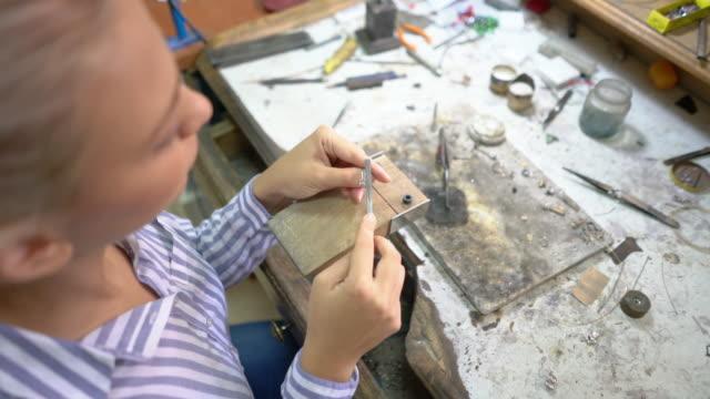 jewelry polishing - jewellery stock videos & royalty-free footage