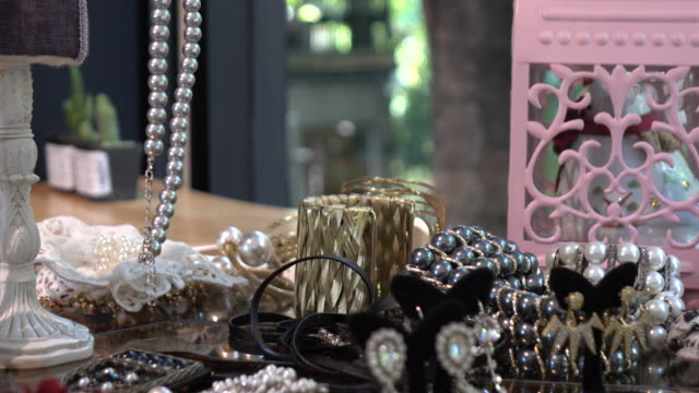 Jewels & precious gift in a designer clothes store
