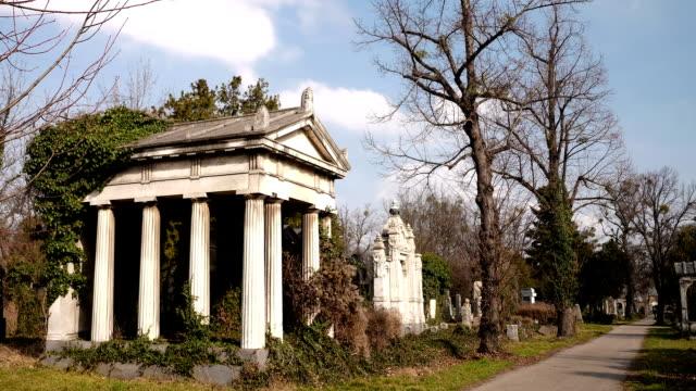 cimitero ebraico time lapse - cimitero video stock e b–roll