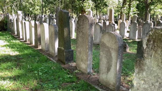 jewish cemetery - gravestone stock videos & royalty-free footage