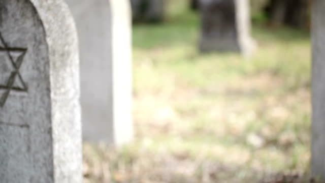 jewish grave - gravestone stock videos & royalty-free footage