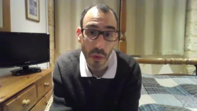 jewish londoners demand response in the wake of antisemitic graffiti england int jonathan klaff interview via internet sot ext sign 'jewish community... - ice rink stock videos & royalty-free footage