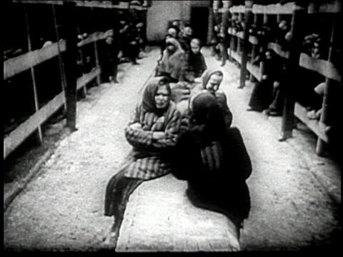 jewish men and women fill concentration camps during world war ii. - concentration camp stock videos & royalty-free footage