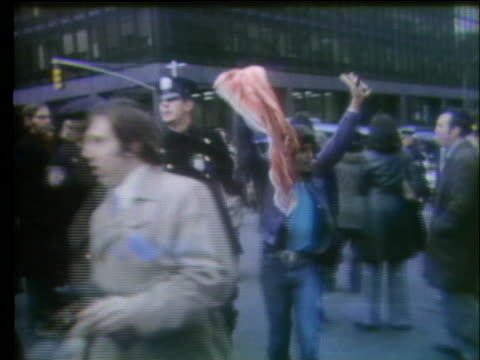 jewish people demonstrate and clash with police outside the united nations building. - palestine liberation organisation stock videos & royalty-free footage