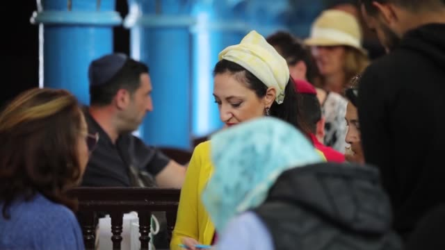 jewish pilgrims pray on the first day of the annual jewish pilgrimage to the el ghriba synagogue, the oldest jewish monument built in africa, on the... - judaism stock videos & royalty-free footage