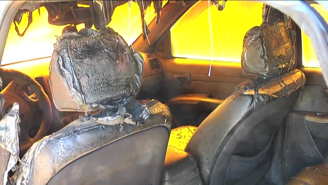 jewish settlers have stormed al-mughayir village at dawn on march 5 torched two cars and sprayed anti-arab phrases near west bank city of ramallah,... - price tag stock videos & royalty-free footage