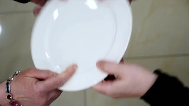 jewish wedding engagement plate braking/shuttering - plate stock videos & royalty-free footage