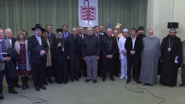 Jews Muslims and Christians join representatives of the Catholic Church in a prayer for life to reject the legalization of abortion in the midst of a...