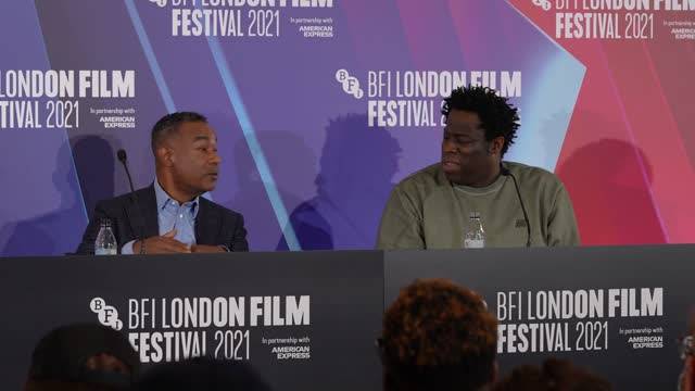 """jeymes samuels, james lassiter audiences being able to watch the film on netflix, netflix being supportive in making the film at """"the harder they... - effort stock videos & royalty-free footage"""