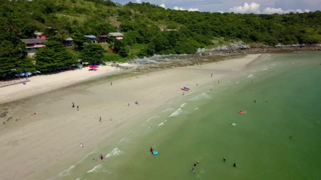 Jhakhrapong Point (End of Tham Pang Point). famous beach at Sichang island in Thailand.