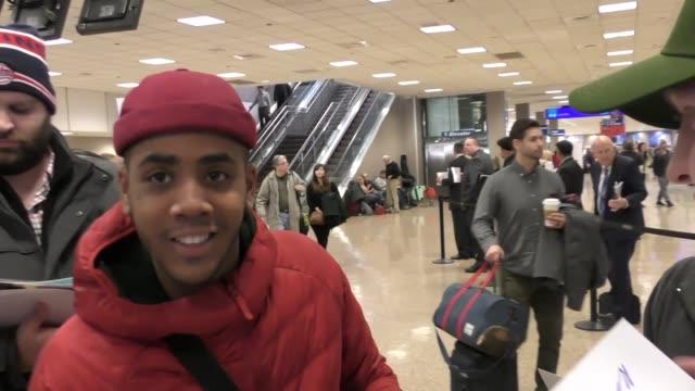 Jharrel Jerome arriving to the Sundance Film Festival at Salt Lake City Airport in Utah in Celebrity Sightings in Park City UT