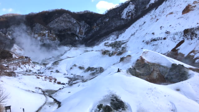"""Jigokudani, known in English as """"Hell Valley"""""""