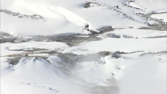 jigokudani valley in tateyama mountains, toyama, japan - toyama prefecture stock videos and b-roll footage
