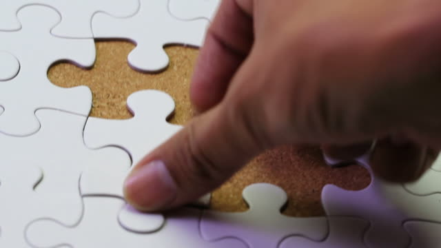 jigsaw puzzle - complete stock videos and b-roll footage