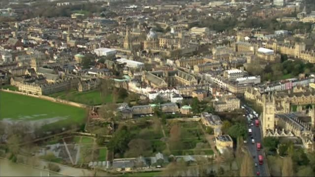 parents give first television interview; date unknown air view oxford - oxford england video stock e b–roll