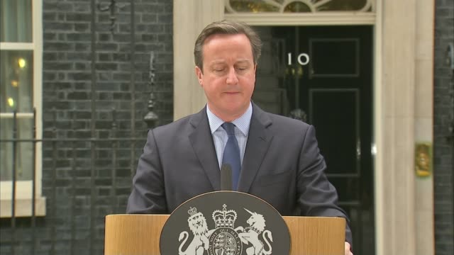 'jihadi john' believed to have been killed in us drone strike; england: london: downing street: ext david cameron mp at podium speaking to press sot... - isis beheading stock-videos und b-roll-filmmaterial