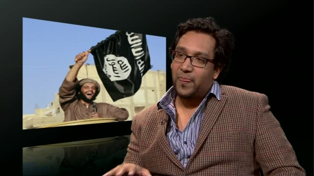 london int dr nafeez ahmed interview sot - jihad stock videos & royalty-free footage