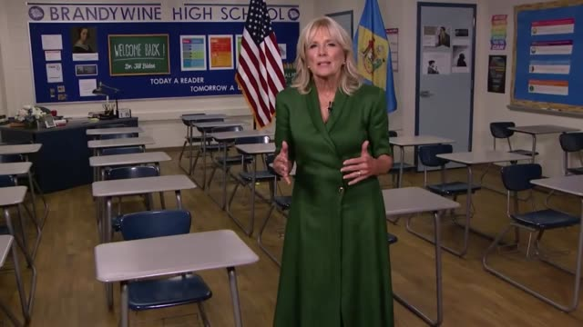 jill biden says in her keynote speech for the second night of the 2020 democratic national convention walking hallway at brandywine high school that... - us politics stock videos & royalty-free footage