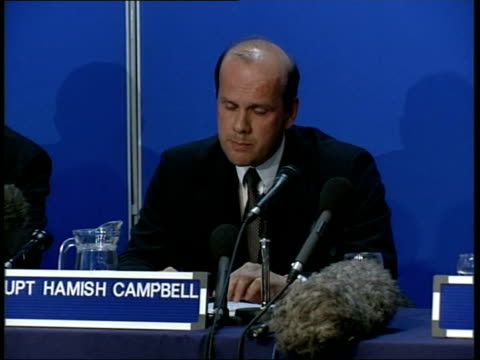 barry george found guilty itn det supt hamish campbell press conference sot making it sound as if it was a delay conducted on purpose or through... - jill dando stock videos and b-roll footage