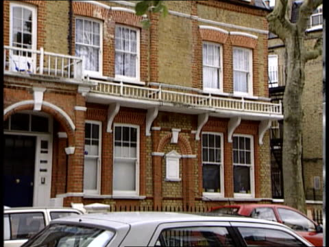 barry george found guilty; england: london: ext cms railings tilt up to show george's flat opposite john o'connor interview sot - a unique murder in... - jill dando stock videos & royalty-free footage