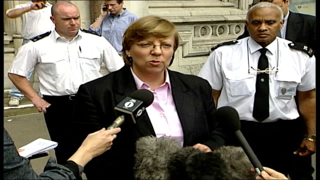 barry george loses appeal against murder conviction; england: london: royal courts of justice: ext tgv high court tilt down alison saunders speaking... - jill dando stock videos & royalty-free footage