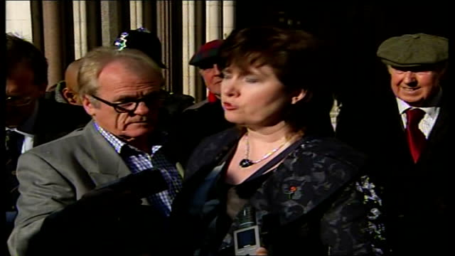 barry george to face re-trial; michelle diskin statement to press outside court sot - appeals for information about real killer - jill dando stock videos & royalty-free footage