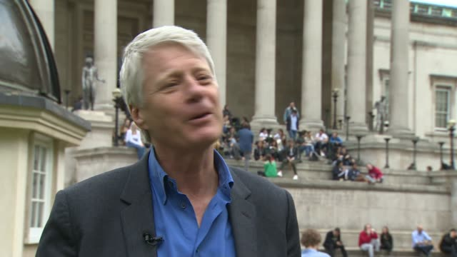 Friends and family mark 20th anniversary of her death UK London Camden Bloomsbury University College London Portico entrance / Nick Ross interview...