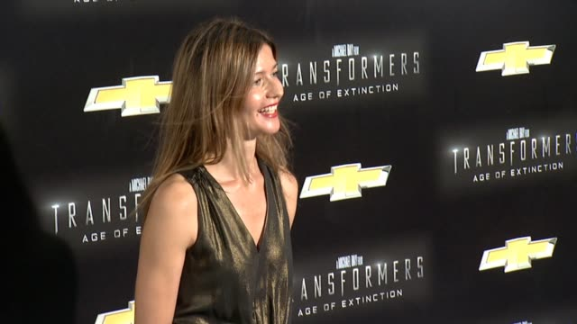 """jill hennessy at """"transformers: age of extinction"""" new york premiere at ziegfeld theatre on june 25, 2014 in new york city. - new age stock videos & royalty-free footage"""