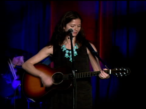 Jill Hennessy performs at the Food Bank For New York City's 25th Anniversary and 5th Annual CanDo Awards Dinner at Abigail Kirsch's Pier Sixty at...