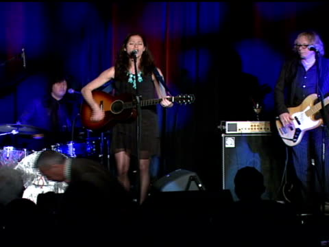 jill hennessy performs at the food bank for new york city's 25th anniversary and 5th annual cando awards dinner at abigail kirsch's pier sixty at... - chelsea piers stock videos & royalty-free footage