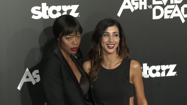 Jill Marie Jones Dana DeLorenzo and Ray Santiago at the Ash Vs Evil Dead Los Angeles Premiere And Live Performance By Iggy Pop at TCL Chinese Theatre...