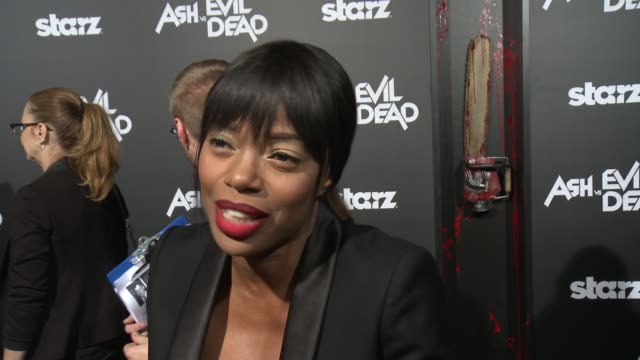 INTERVIEW Jill Marie Jones on her fans her character and what to expect on the show at the Ash Vs Evil Dead Los Angeles Premiere And Live Performance...