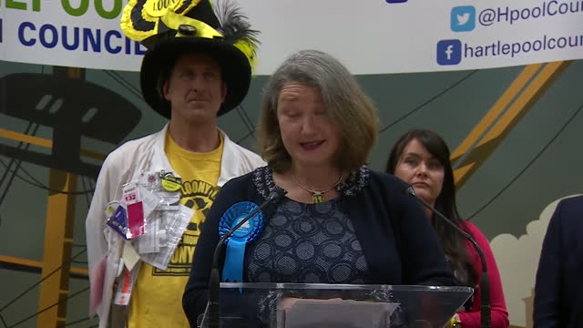 jill mortimer speaking after being elected mp for hartlepool in the hartlepool by-election - 出来事の発生点の映像素材/bロール