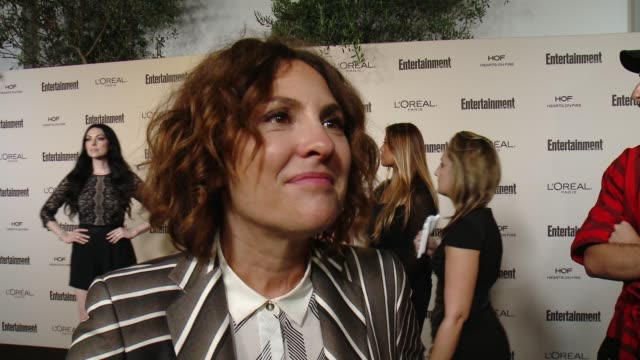 interview jill soloway on favorite television moments from this past season and on what entertainment weekly means to them at entertainment weekly's... - entertainment weekly stock videos and b-roll footage