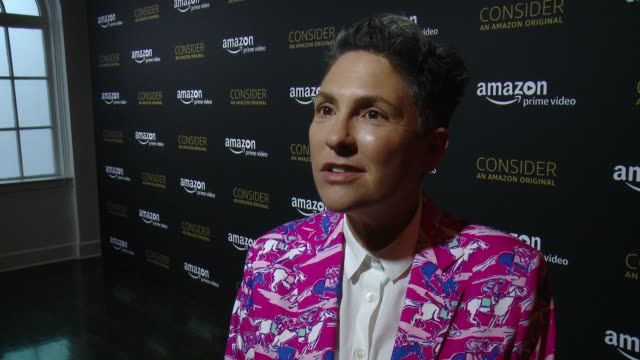 interview jill soloway on how it feels to share tonight with the fans what it's like to work with this amazing cast why judith light deserves an emmy... - season 4 stock videos and b-roll footage