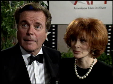 jill st john at the afi honors honoring clint eastwood press room at the beverly hilton in beverly hills, california on march 1, 1996. - american film institute stock videos & royalty-free footage