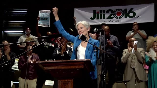 jill stein us presidential candidate from green party campaigns in chicago despite north dakota authorities filed criminal charges against her for... - jill stein stock videos and b-roll footage