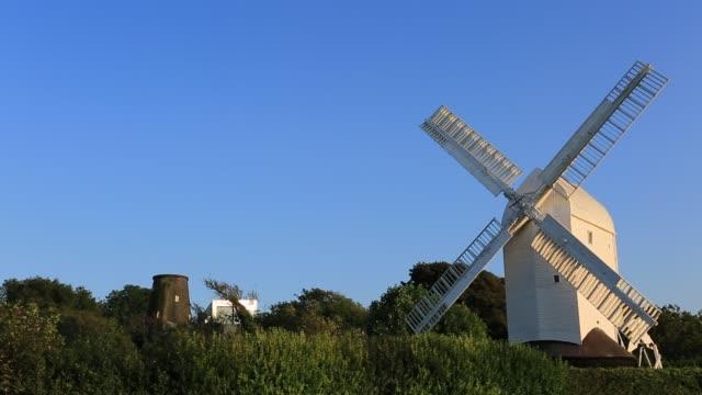 Jill windmill, near Clayton village, South Downs National Park, near Findon village, West Sussex, England, UK