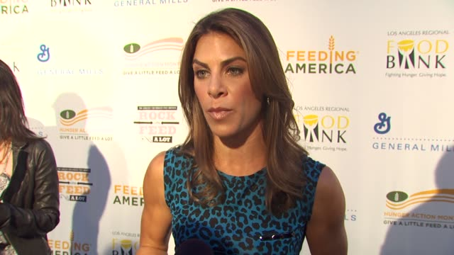 Jillian Michaels on being a part of the night what performance she's most looking forward to at the 'Rock A Little Feed A Lot' Benefit Concert at Los...