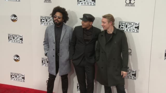 jillionaire walshy fire and diplo at 2016 american music awards at microsoft theater on november 20 2016 in los angeles california - 2016 american music awards stock videos and b-roll footage