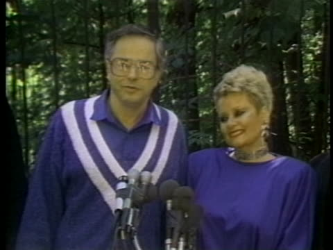 jim bakker and wife tammy faye bakker say they are ready to return to the ptl ministry after jim's departure due to a sex scandal. - married stock videos & royalty-free footage