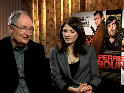 Jim Broadbent and Jodie Whittaker on how the director Ian Fitzgibbon was an actor before and so he knows how to work with actors on how heightened it...