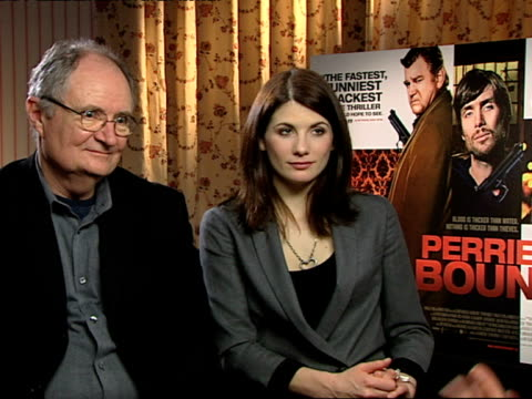 Jim Broadbent and Jodie Whittaker on how they slotted into things very easily because it was so well written at the Perrier's Bounty Interviews at...