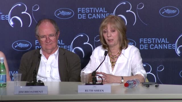Jim Broadbent and Ruth Sheen on what the film is about at the Another Year Press Conference Cannes 2010 Film Festival at Cannes