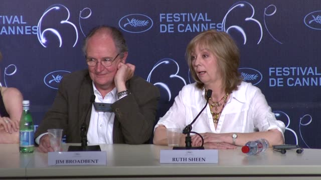 Jim Broadbent and Ruth Sheen on working with Mike Leigh at the Another Year Press Conference Cannes 2010 Film Festival at Cannes