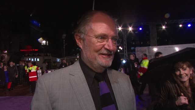 Jim Broadbent on Emily Blunt on working with Julian Fellowes on the story at the The Young Victoria World Premiere at London
