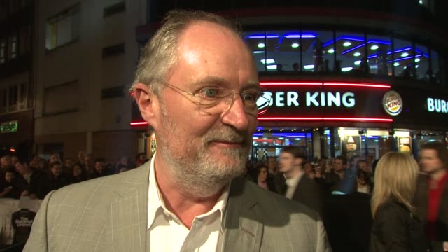 Jim Broadbent on how interesting it is as an actor to play real life characters in films at the The Damned United Premiere at London