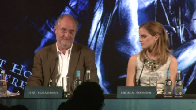 Jim Broadbent on joining the Harry Potter film world at the Harry Potter and the HalfBlood Prince Press Conferences at London England