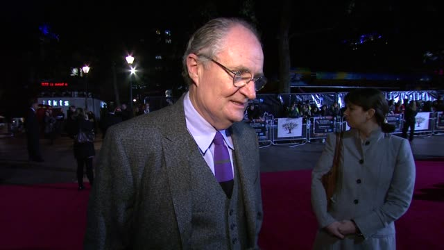 Jim Broadbent on the type of films Mike Leigh makes and his style how the audience react to his work at the Another Year Premiere 54th BFI London...