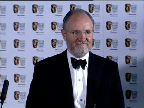 London INT Jim Broadbent press conference SOT Very surprised and quite shaken having won / Indescribable / Now feeling guilty for not thanking the...